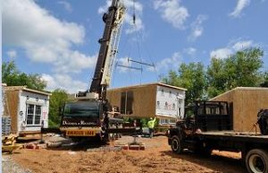 Blog - Modular Home assembly - P1 - Crane