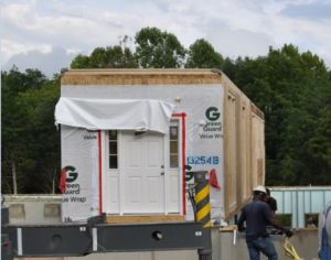 Blog - Modular Home assembly - P2 - First Module on Foundation