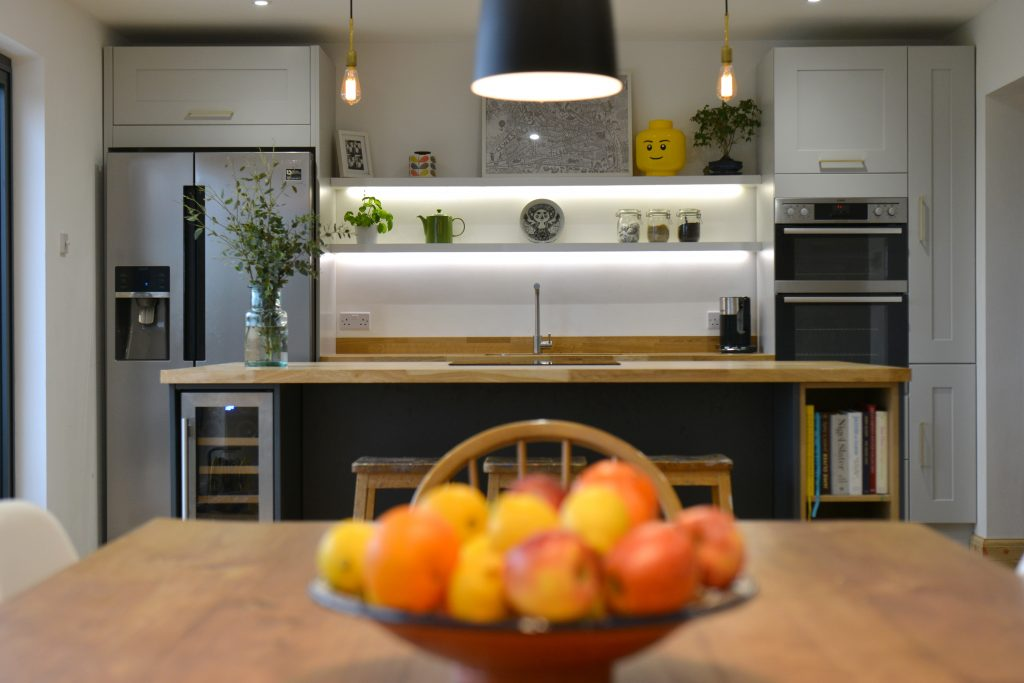 home kitchen with fruit